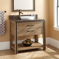 36 celebration vanity for semi recessed sink rustic acacia