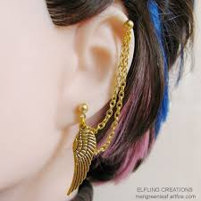 earrings with chain ear cartilage gallery for cartilage earrings chain earrings with chain ear