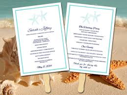 wedding ceremony fans wedding program fan template ceremony program wedding
