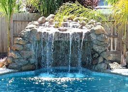 rock waterfalls for pools pools with slides and waterfalls pools with slides and waterfalls
