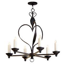 6 arm wrought iron chandelier by randy esada designs for