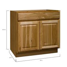 home depot kitchen base cabinets hton assembled 36x34 5x24 in base kitchen cabinet with bearing drawer glides in hickory