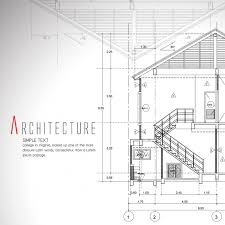 architecture plan architecture background design vector free