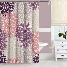 Purple Bathroom Curtains Purple Shower Curtain Dusty Purple Blush Pink Beige Bathroom