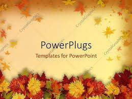 powerpoint template and thanksgiving theme with colorful