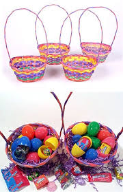 easter baskets to make rainbow bamboo easter baskets easy easter crafts for preschoolers