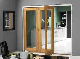 interior cool sliding door design with brown frames and glass