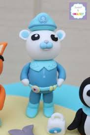 octonauts cake toppers octonauts cake topper kwazi fondant cake topper by sweet