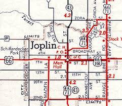 joplin mo map missouri route 66 maps
