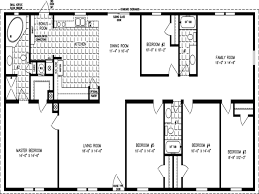 plain double wide floor plans 5 bedroom manufactured home plan the