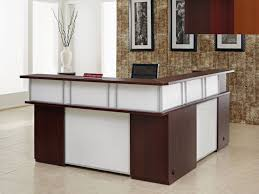 Pictures Of Reception Desks by 2 People L Shaped Reception Desk U2014 All Home Ideas And Decor L