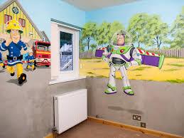 Fireman Sam Bedroom Furniture by Boy U0027s Room Mural With Cars Mcqueen Mater Buzz Lightyear Fireman