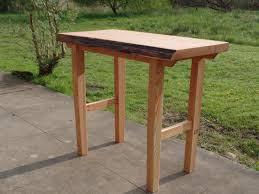 Live Edge Bar Table Buy A Hand Made Douglas Fir Live Edge Bar Height Slab Table Made