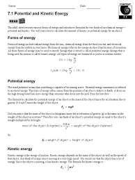 Physics Worksheet Pictures Energy Transformation Worksheet Answers Dropwin