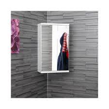 croydex simplicity mirror white corner bathroom cabinet benevola