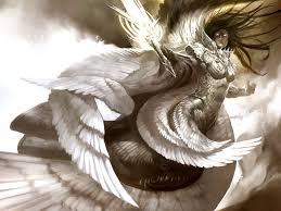 angel wings black background