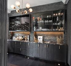Dining Room Bar Cabinet Ebony Oak Wet Bar Cabinets With Black Marble Contemporary
