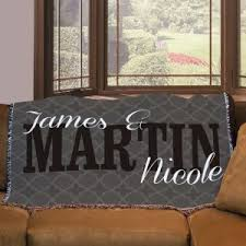 personalized wedding blankets personalized blankets and pillows