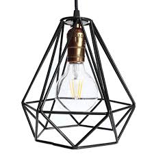ceiling hanging light fixtures new lamp cover loft industrial edison metal wire frame ceiling