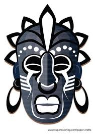 tribal mask printable template free printable papercraft templates