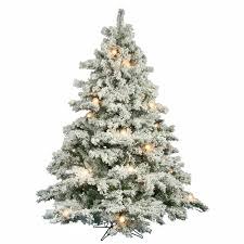 flocked tree vickerman 6 5ft flocked white on green christmas tree 600 clear