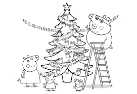 peppa pig coloring pages a4 peppa pig christmas tree coloring pages 2529 peppa pig christmas