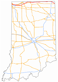 Illinois Road Map by Indiana Toll Road Wikipedia