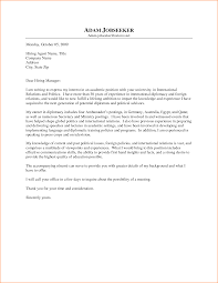 Cover Letter For College Employment Food Safety Trainer Cover Letter