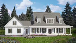 house plans modern farmhouse 4 bed modern farmhouse with front and rear porches 25609ge