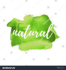 Green Paint by 100 Natural Product Vector Word Text Stock Vector 407191777