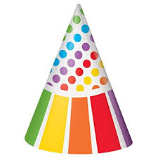 party hats rainbow party hats 8ct kitchen dining