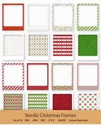 nordic christmas frame clip art holiday photo frame printable