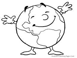 kid color pages earth day for girls coloring page pics tree