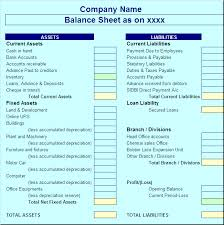 latest balance sheet report template u2013 free report templates
