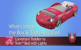 corvett bed corvette toddler to bed with lights guides