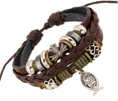 leather bracelet with cross images Cross leather bracelet your stuff store PNG