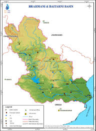 India River Map by Brahmani And Baitarni