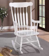 White Bedroom Rocking Chair White Wooden Rocking Chair Modern Chairs Design
