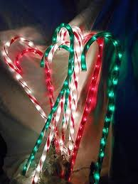 Outdoor Candy Cane Lights by Christmas Blow Ups Collection On Ebay