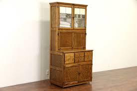 Vintage Enamel Top Kitchen Cabinet by Hoosier Kitchen Cabinet Ebay
