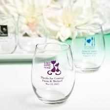 stemless wine glasses wedding favors personalized stemless wine glass wedding favors 9 ounce custom