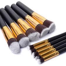aliexpress buy new arrival 10pcs silver gold 10 pcs gold and silver synthetic kabuki makeup brush set cosmetics