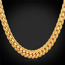 fashion necklace jewellery images Gold chain u7 jewelry jpg
