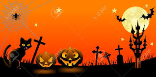 halloween night with black cat royalty free cliparts vectors and