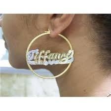 Hoop Earrings With Name Nikfine Fashion Earrings Hoop Sears