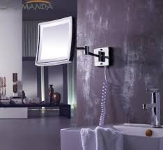 wall mounted extendable mirror bathroom free shipping modern bathroom products solid brass chrome finished