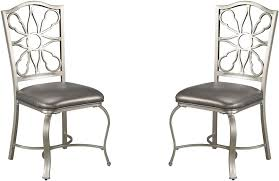 Silver Dining Table And Chairs Shollyn Silver Dining Upholstered Side Chair Set Of 4 From Ashley