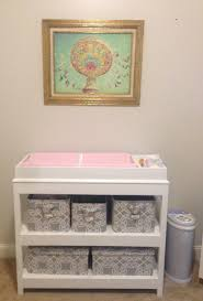 Oak Baby Changing Table Custom Wood Baby Changing Table With Slots For Diapers And Wipes