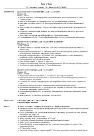 maintenance technician resume production maintenance technician resume sles velvet