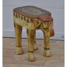Elephant Side Table Painted Elephant Side Table Jugs Indian Furniture Uk